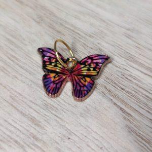 Anneaux marqueurs - Tricot - Papillons multicolores - Maloraé Designs