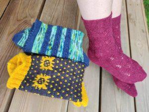 Collection patrons de tricot chaussettes - Maloraé Designs