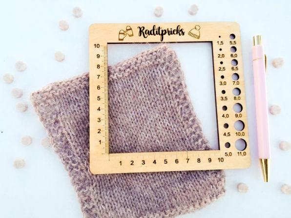Jauge à échantillon - Matériel tricot - Maloraé Designs