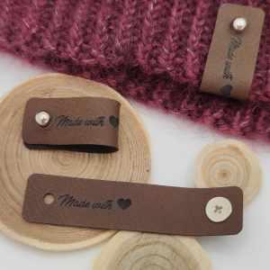 Étiquettes à rivets Made With ❤ - Maloraé Designs