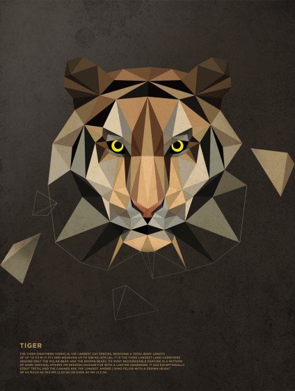 Polygonal-Animals-Tiger