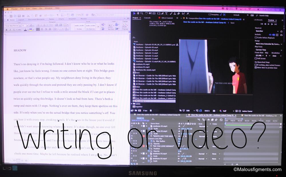 Writing VS Video Editing