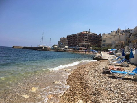 Marsalform bay in Gozo(ゴゾ島のマルサルフォンにあるビーチ)