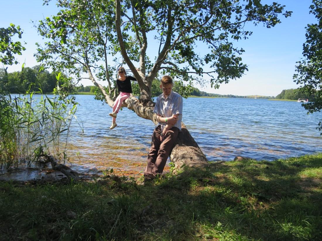 トラカイ城の湖畔