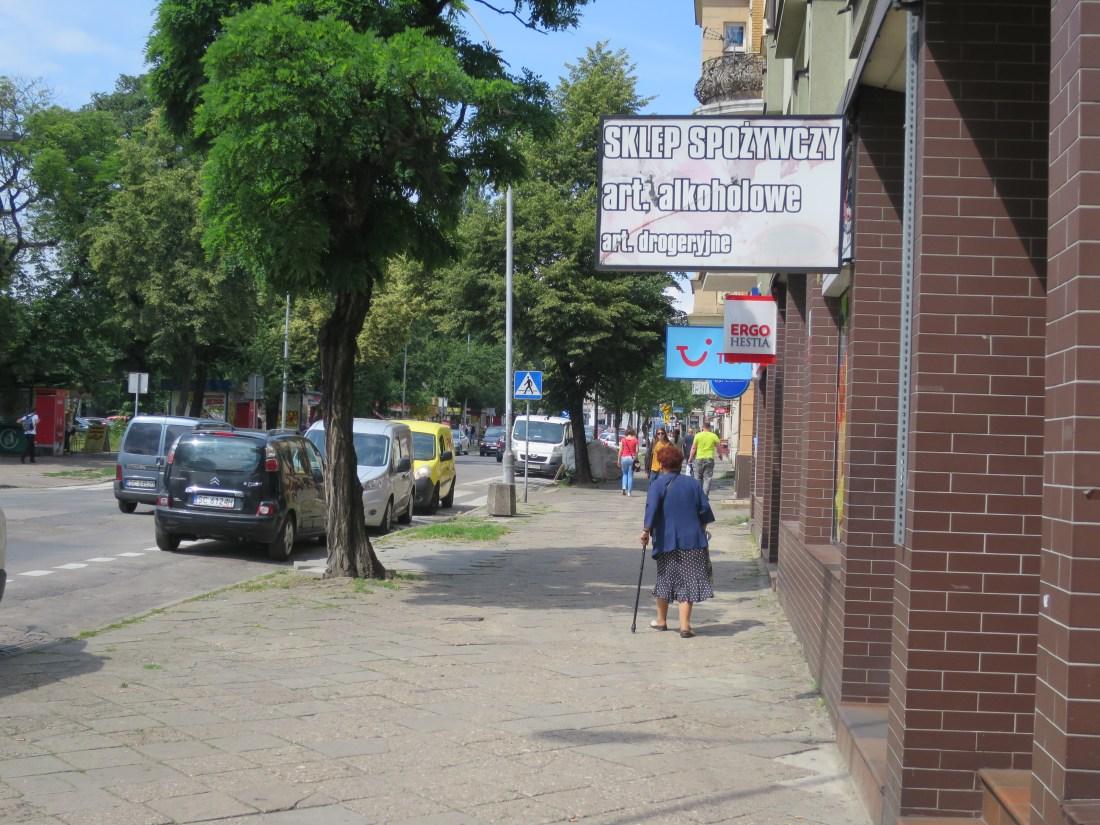 チェンストホヴァの宿泊先のある通り