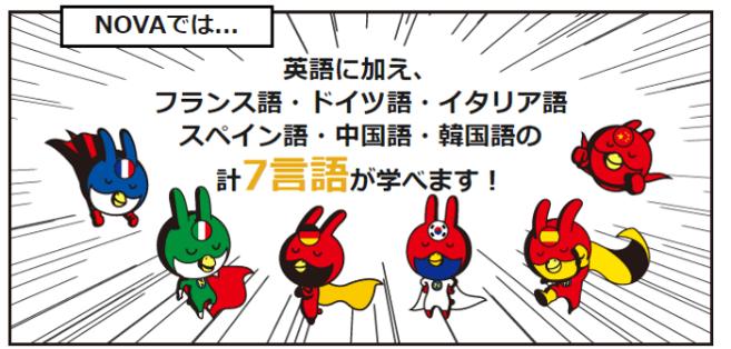 NOVA(7か国語レッスン)