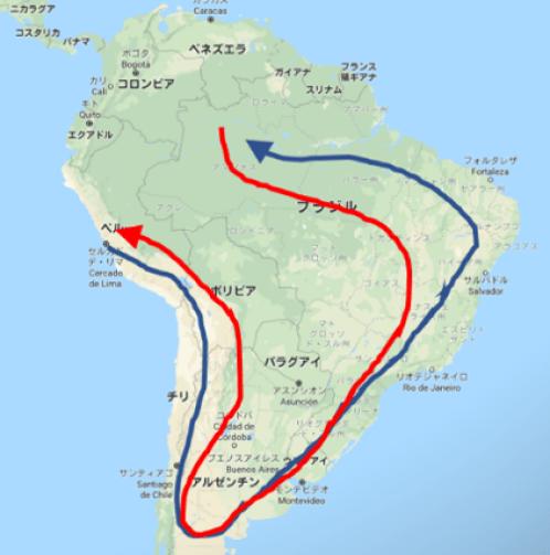 南米バックパックルート