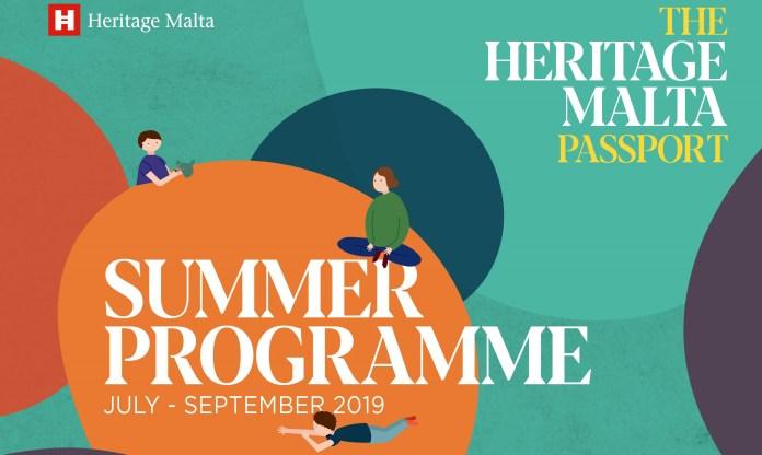 The Heritage Malta summer programme leaflet (source: Heritage Malta media department)