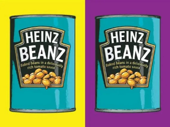 Artistic Painting of Heinz Beans
