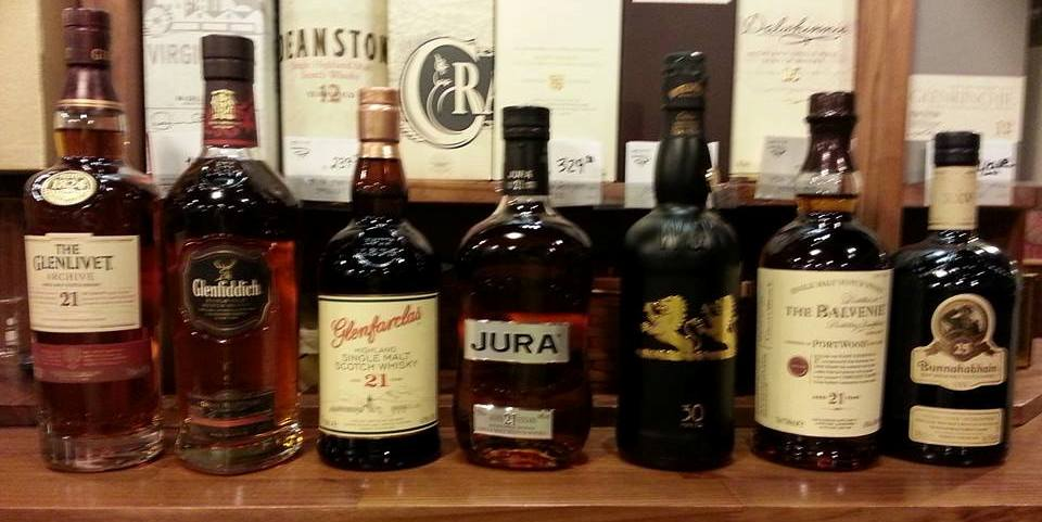 """Lineup for the """"Older than 21"""" Tasting"""