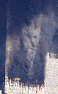 Image of Satan in 911 September 11 WTC Bombing Explosion