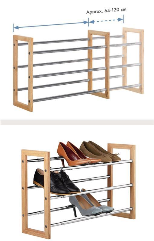 2 extendable shoe racks maltapark