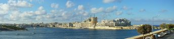 Sliema látképe Valletta felől