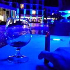 Hennessy Paradis with a Romeo y Julieta No 1