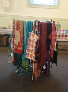 some of the lovely scarves ad bags