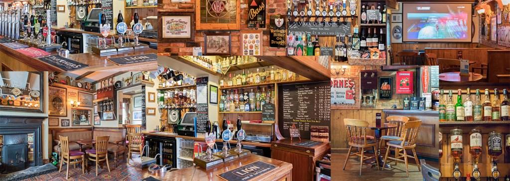 The Malt Shovel Tavern Northampton - montage of images
