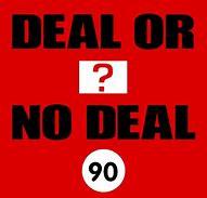Deal or no deal, European order quiz night