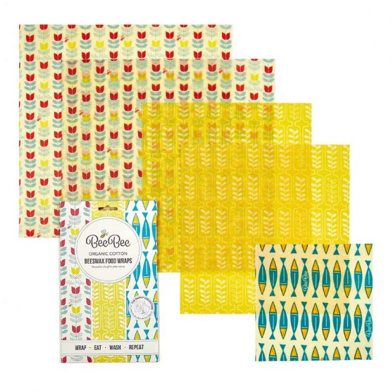 The Family Collection BeeBee Wraps Beeswax Wraps Plastic Free Organic Cotton Clingfilm Alternative SS19 BEE5BCOL01 1 555x555