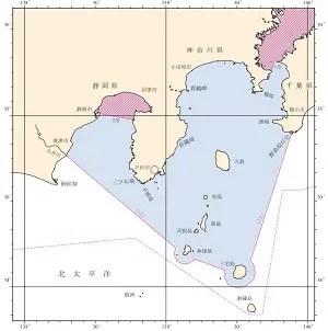 限定沿海の但し書きの海図
