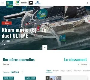 the Route du Rhum - Destination Guadeloupe homepage