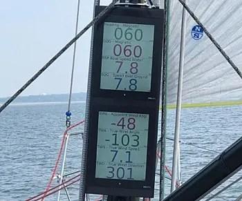 レース艇の計器盤