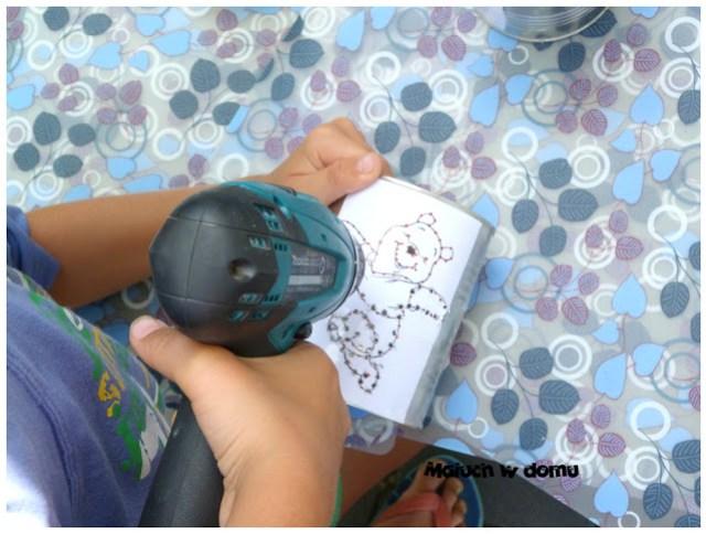 Jak zrobić lampion z puszki