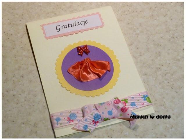 Kartka okolicznościowa handmade z okazji narodzin dziewczynki It's a girl