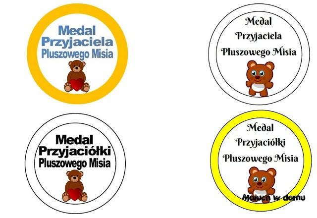 Medale i dyplomy na Dzień Pluszowego Misia