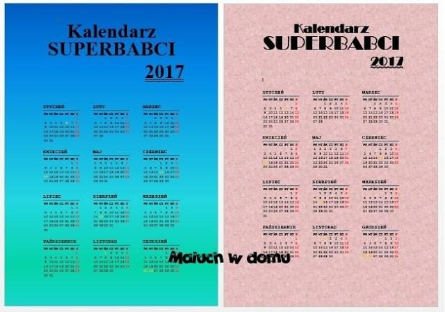 Kalendarz superbabci
