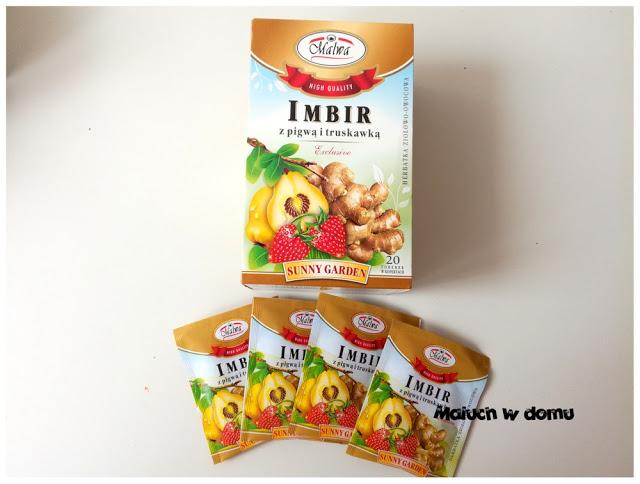 Herbatka Imbir z pigwą i truskawką Malwa