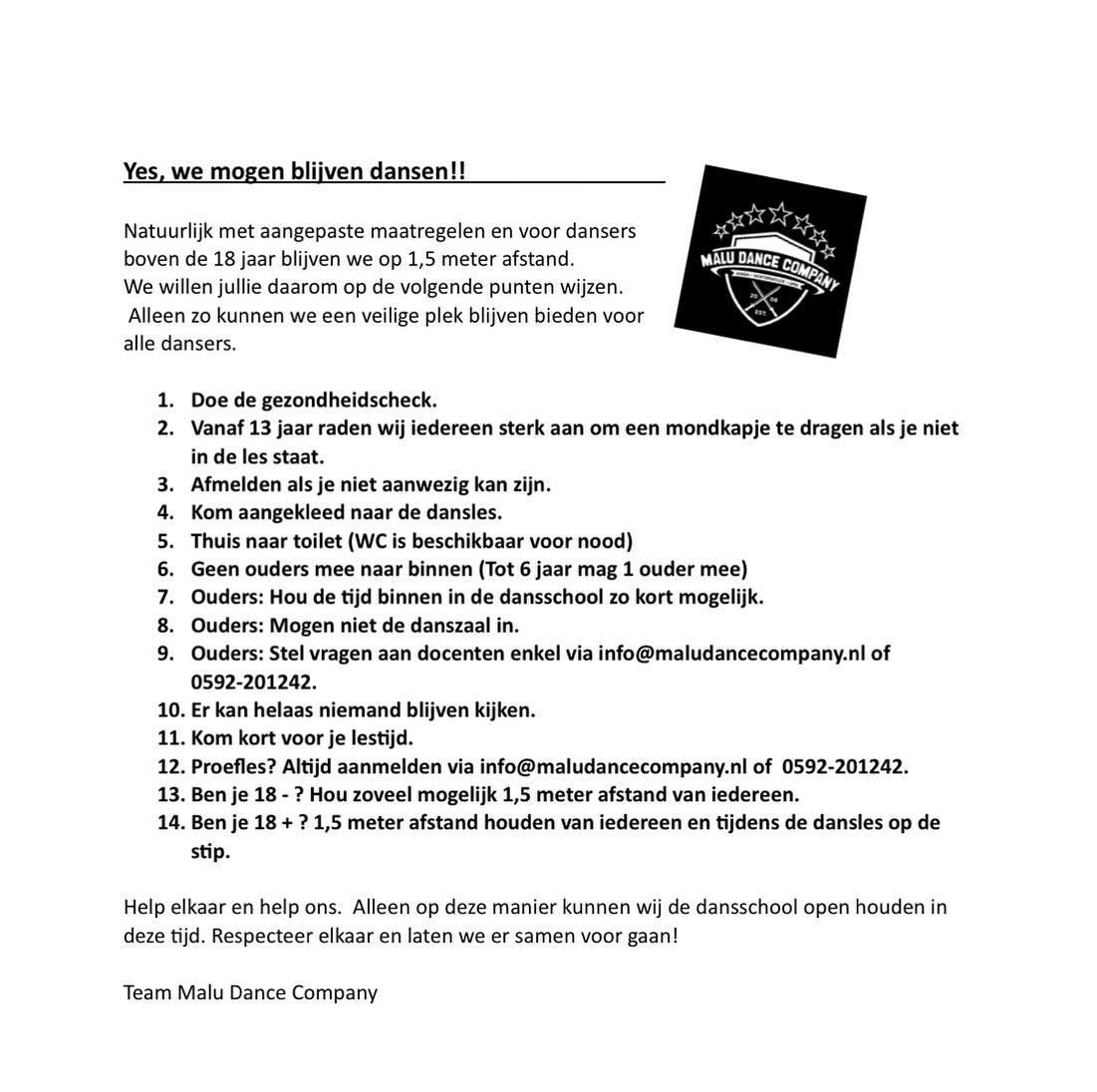 MDC Corona regels