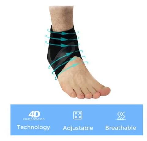 Recursos da cinta de tornozelo