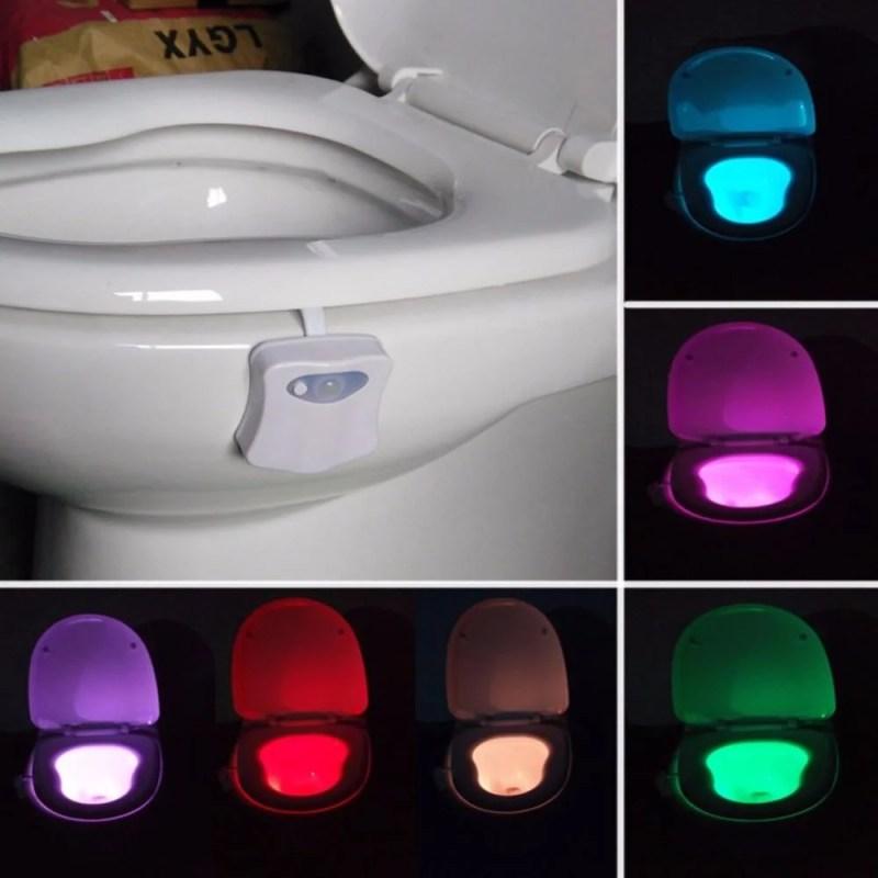 Luz Noturna para Vaso Sanitário Led - Sensor de Movimento
