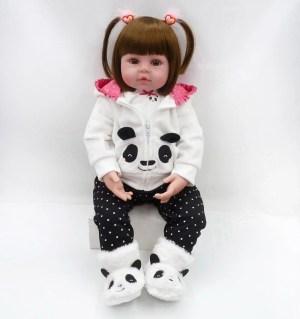 Boneca Panda Realista 48cm