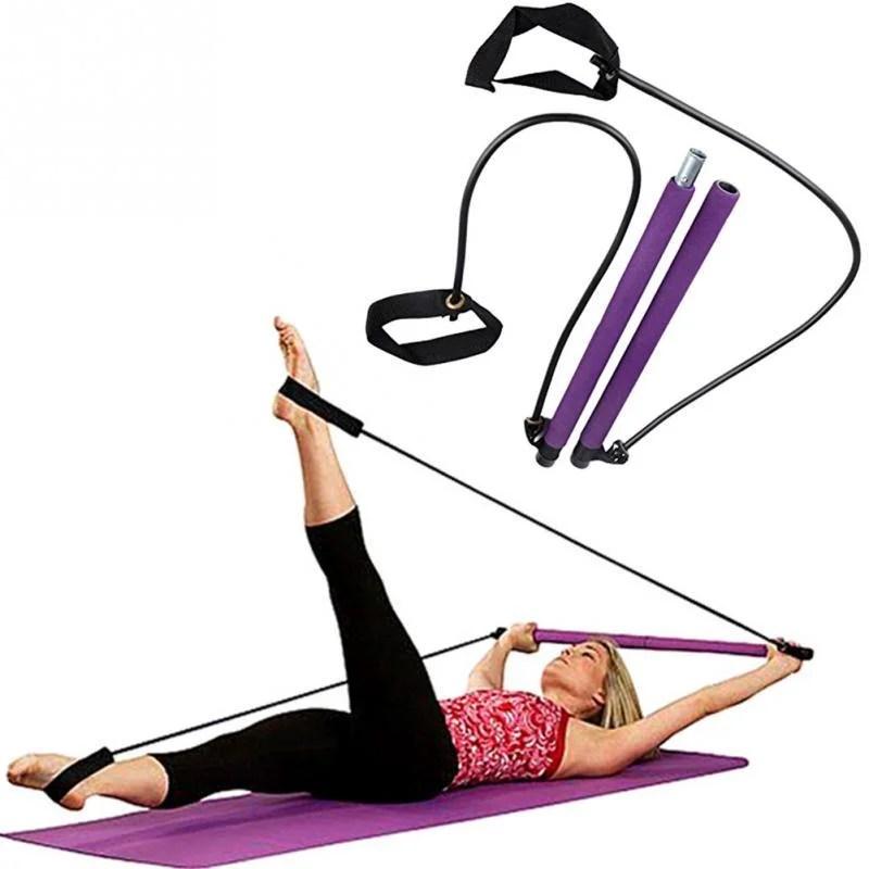 Kit Premium Barra Para Pilates E Exercícios Em Geral