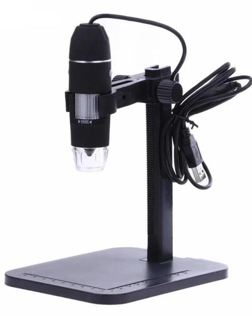 Câmera de Microscópio com Zoom de 1000x e 1080p