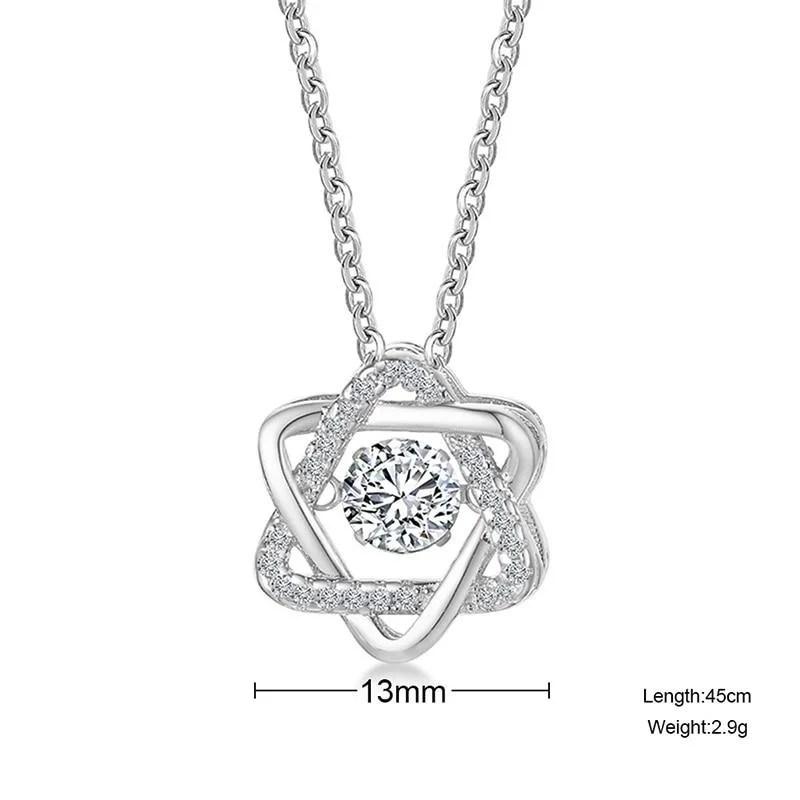 Colar de Prata Hexagram