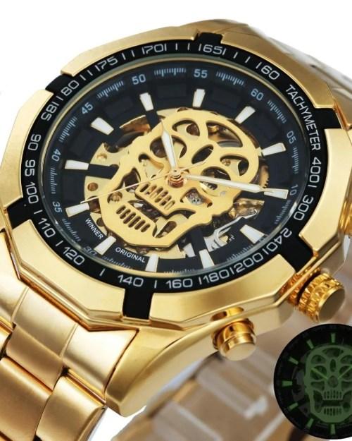 Relógio Automático Forsining Skull
