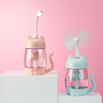 Mini Umidificador De Ar Adorável Com Luz Led