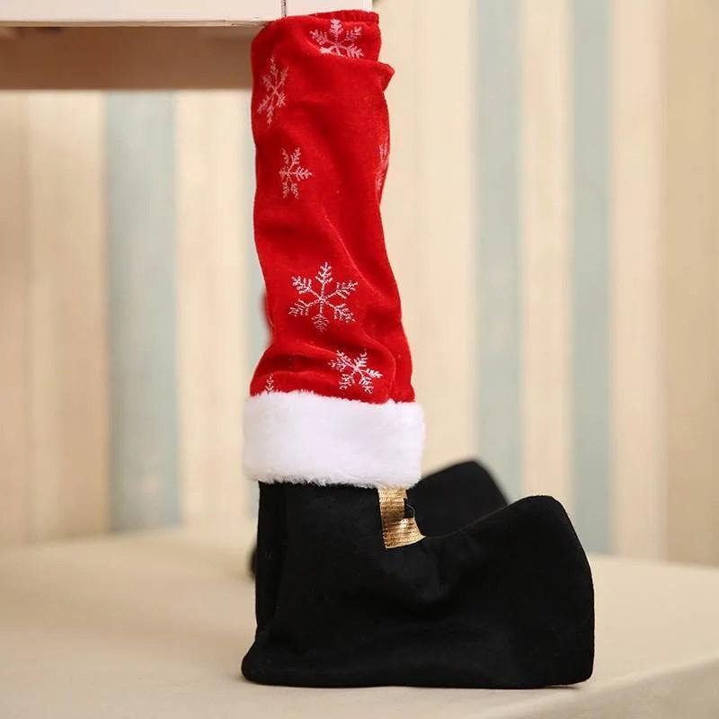 Capa Para Pés de Mesa de Natal (4 Peças)