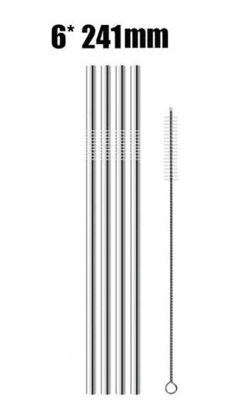Kit 4 ou 8 Canudos Sustentáveis de Inox