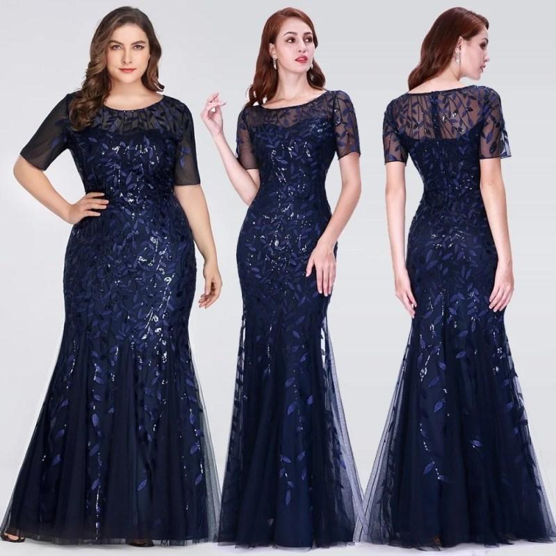 Vestidos Para Noite de Renda - Azul - M