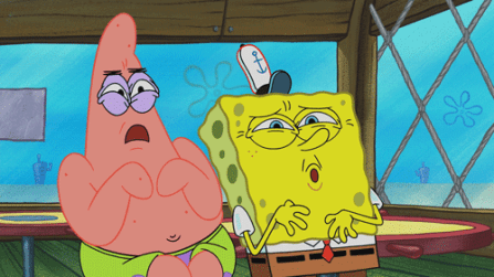 SpongeBob and Patrick Disgusted