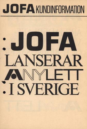 JOFA Oskar Camping Jofa lanserar Anylett 0497