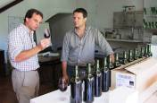 As Charles assesses each wine, Paulo fills him in on technical information