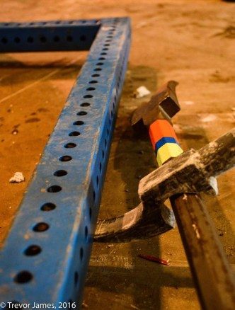 """During field testing it was determined that the height of the Hallux's lift can be varied by sliding the """"Frederick Notch"""" up or down a tripoded Halligan bar."""