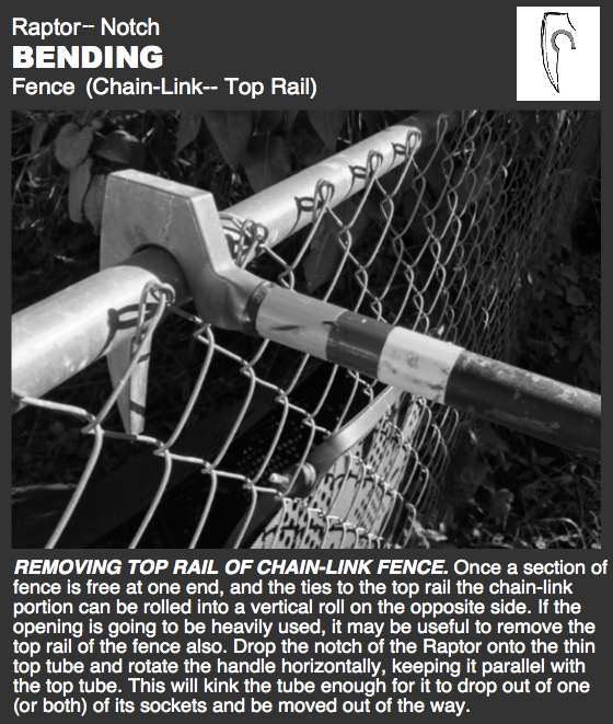 Raptor-- Fence, Bend Top Pole
