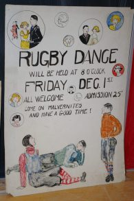 Posters done by students for the dances