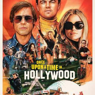 "Poster for the movie ""Once Upon a Time in Hollywood"""