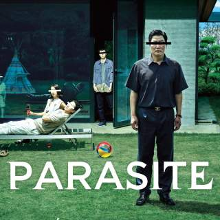 "Poster for the movie ""Parasite"""